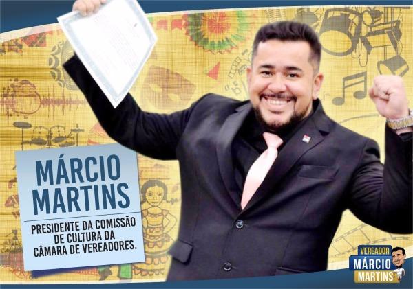 Marcio Martins é presidente da Comissão de Cultura da Câmara Municipal.
