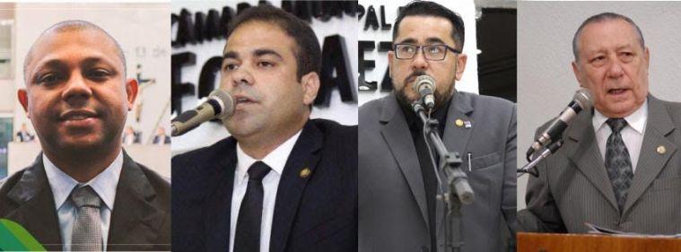 Vereadores Soldado Noélio, Julierme Sena, Márcio Martins e Idalmir Feitosa.